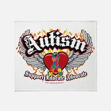 Autism Wings Throw Blanket