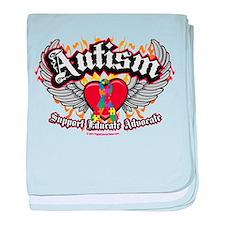 Autism Wings baby blanket