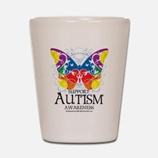 Autism Butterfly Shot Glass