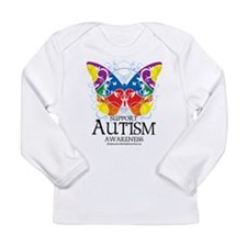 Autism Butterfly Long Sleeve Infant T-Shirt
