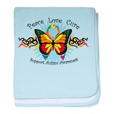 Autism Tribal Butterfly baby blanket