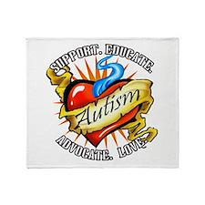 Autism Classic Tattoo Throw Blanket