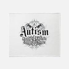 Autism Tribal 2 Throw Blanket