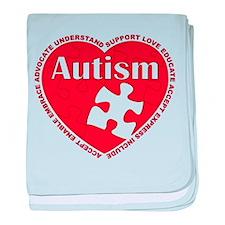 Autism Puzzle Heart baby blanket