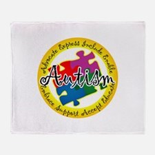 Autism Puzzle Throw Blanket