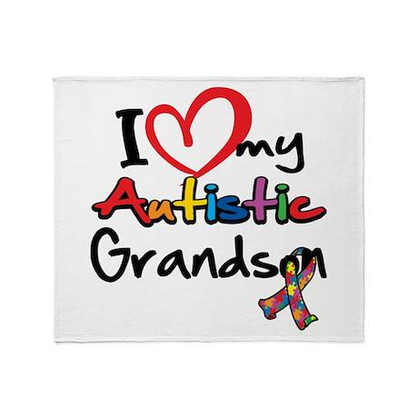 My Autistic Grandson Throw Blanket