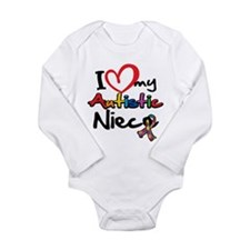 My Autistic Niece Long Sleeve Infant Bodysuit
