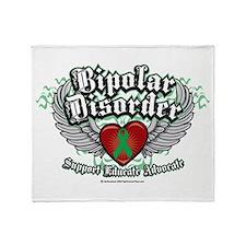 Bipolar Disorder Wings Throw Blanket