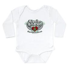 Bipolar Disorder Wings Long Sleeve Infant Bodysuit