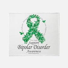 Bipolar Disorder Ribbon of Bu Throw Blanket
