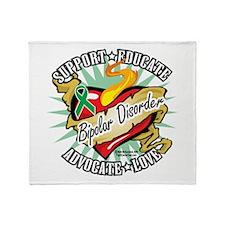 Bipolar Disorder Classic Hear Throw Blanket