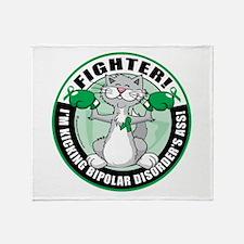 Bipolar Disorder Fighter Cat Throw Blanket
