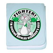 Bipolar Disorder Fighter Cat baby blanket