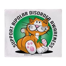 Bipolar Disorder Cat Throw Blanket