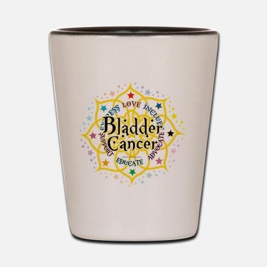 Bladder Cancer Lotus Shot Glass