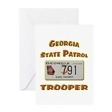 Georgia State Patrol Greeting Card