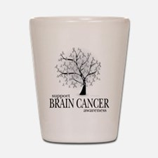 Brain Cancer Tree Shot Glass