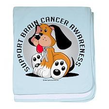 Brain Cancer Dog baby blanket