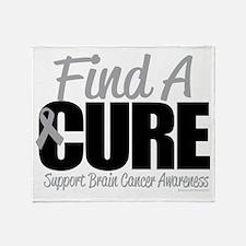 Brain Cancer Find A Cure Throw Blanket