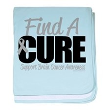 Brain Cancer Find A Cure baby blanket