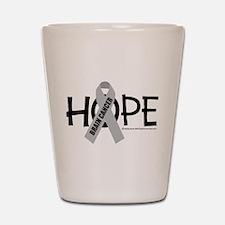 Brain Cancer Hope Shot Glass