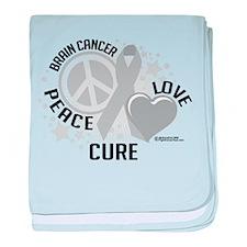 Brain Cancer PLC baby blanket