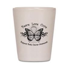 Brain Cancer Tribal Butterfly Shot Glass