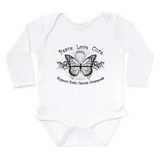 Brain Cancer Tribal Butterfly Long Sleeve Infant B