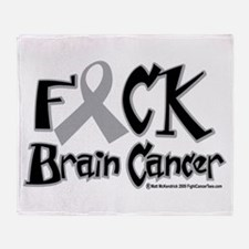 Fuck Brain Cancer Throw Blanket