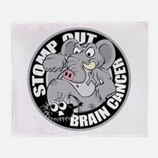 Stomp Out Brain Cancer Throw Blanket