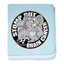 Stomp Out Brain Cancer baby blanket