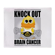Knock Out Brain Cancer Throw Blanket