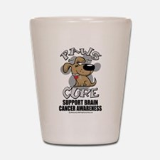 Brain Cancer Paws for the Cur Shot Glass