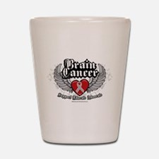 Brain Cancer Wings Shot Glass