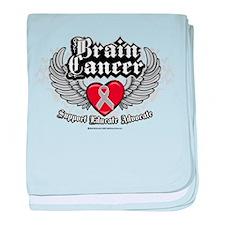 Brain Cancer Wings baby blanket