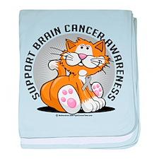 Brain Cancer Cat baby blanket