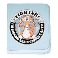 Brain Cancer Fighter Cat baby blanket