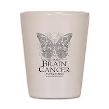 Brain Cancer Butterfly Shot Glass