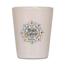 Brain Cancer Lotus Shot Glass