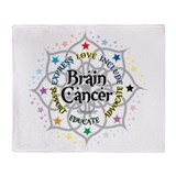 Brain cancer Fleece Blankets