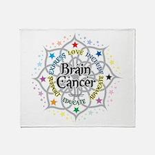 Brain Cancer Lotus Throw Blanket