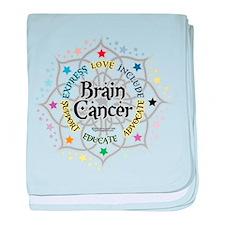 Brain Cancer Lotus baby blanket