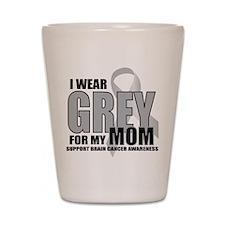 Brain Cancer: Grey For Mom Shot Glass