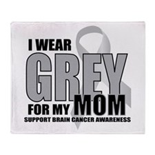 Brain Cancer: Grey For Mom Throw Blanket