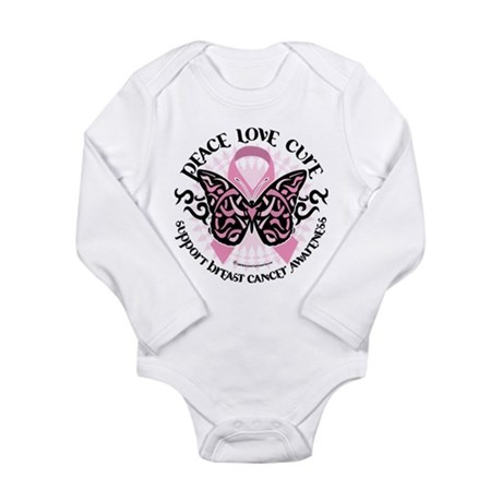 Breast Cancer Butterfly Triba Long Sleeve Infant B