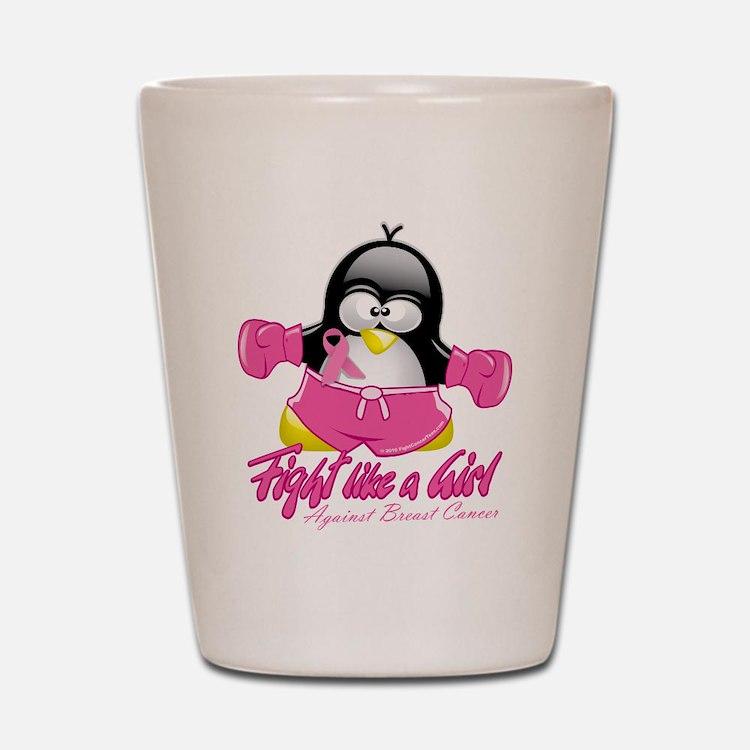 BC Fighting Penguin Shot Glass