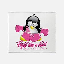 BC Fighting Penguin Throw Blanket