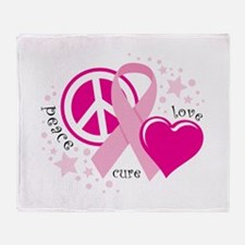 BC Peace Love Cure Throw Blanket