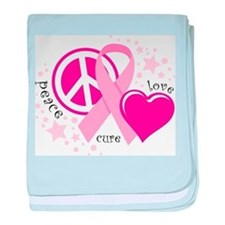 BC Peace Love Cure baby blanket