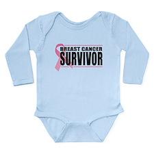 Breast Cancer Survivor Long Sleeve Infant Bodysuit